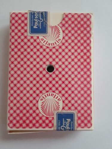 VINTAGE ATLANTIS CASINO ATLANTIC CITY PLAYING CARDS RED GEMACO CASINO USED