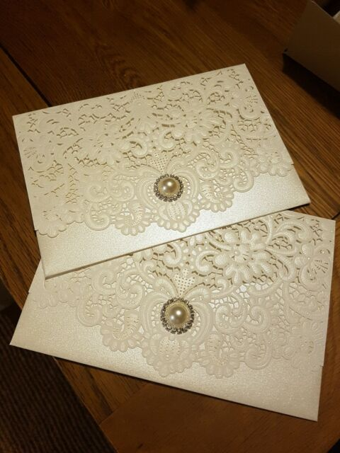 wedding invitation envelope lace card laser cut vintage party gift