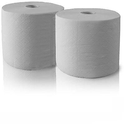 2 Putztuchrollen weiß 2 lg ca 28cm//23cm ca.800 Blatt Putz Papier Rolle