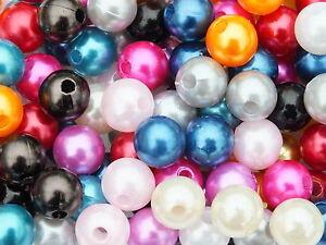 1000 Perlen perlmutt gold Hochzeit Wachsperlen 8mm Perle zum Auffädeln Dekoperle