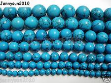 Turkey Turquoise Gemstone Round Beads 16'' 4mm 6mm 8mm 10mm 12mm 14mm 16mm 18mm