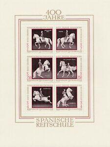 Block-400-Jahre-Spanische-Reitschule-1972-wunderschoen-postfrisch-Osterreich
