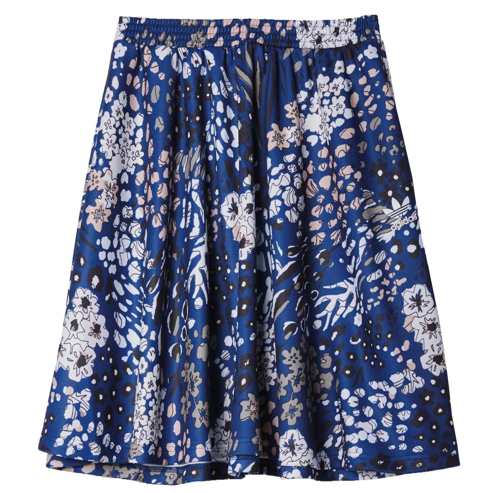 Adidas Originals Flower Skirt Beautiful Skirt with Flowers Decor bluee