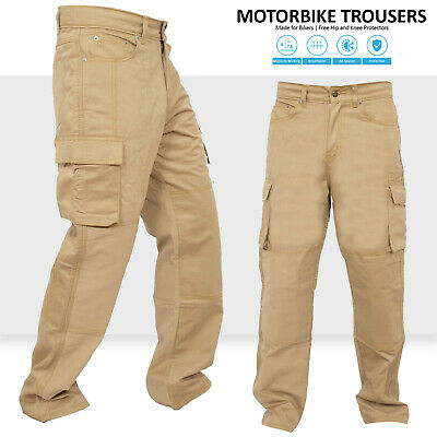 Mens Motorbike Protective Trousers Waterproof Armoured Wind proof Protective Heavy Duty Removable CE Armour Biker Pant with Removable cotton Lining