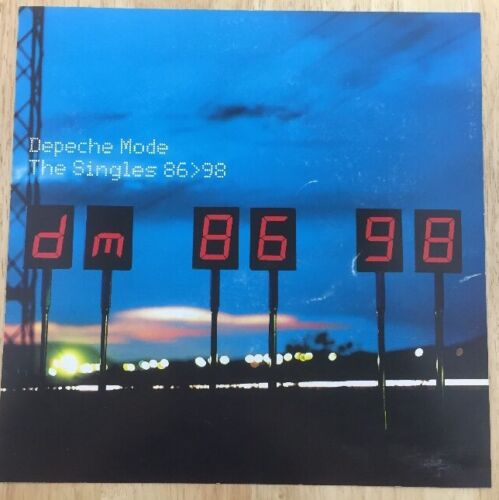 Depeche Mode The Singles 86>98 Promotional Poster 1998 Original Rare 12.5x12.5