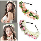 New BOHO Flower Garland Floral Bridal Headband Hair band Wedding Party Prom Ball