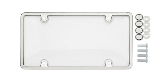 Chrome//Clear License Plate Frame and Cover for Auto Car Truck SUV