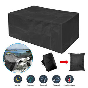 Enjoyable Details About Garden Patio Furniture Cover Waterproof Rectangular Outdoor Rattan Table Cover Download Free Architecture Designs Scobabritishbridgeorg