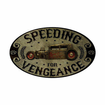 Lethal Threat Hot Rat Rod Speeding Vengance Vintage Retro Blechschild Schild NEU