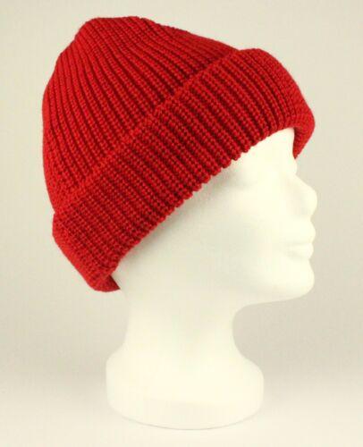 rot o Rollmütze 100/% Schurwolle dunkelblau wollweiß schwarz von Modas Mütze