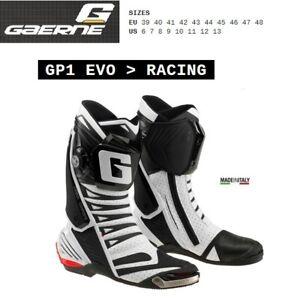 l'ultimo 67736 6a9d8 Details about Stivali RACING moto strada GAERNE GP1 EVO AIR white bianco  2450004