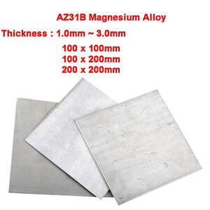 3Pcs 5mm x 180mm x 180mm AZ31B Magnesium Alloy Thin Metal Sheet Plate