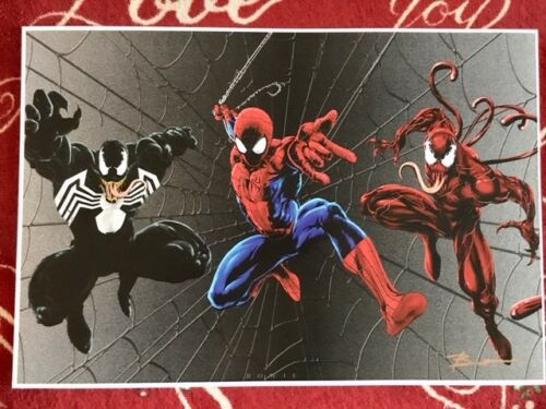 NEW VENOM CARNAGE SPIDERMAN MOVIE FIGURE Signed Comic Con ART PRINT 13x19 POSTER