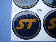 (ST60CO) 4x ST Embleme für Nabenkappen Felgendeckel 60mm Silikon Aufkleber