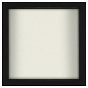 Americanflat 11x11 Shadow Box Frame in Black with Soft Linen Back - Composite...
