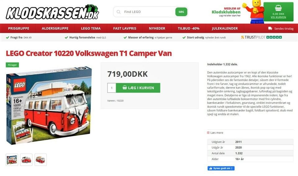 Lego Creator, 10220 Volkswagen T1 Camper Van
