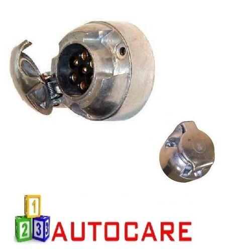 7 Pin Socket Remolque Coche Caravana cableado luces remolque De Metal Aluminio voltios 12v 12N