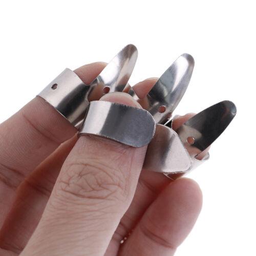 4Pcs Guitar accessories finger picks plectrums metal slide tools—HQ