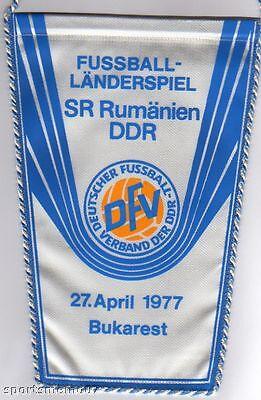 Methodisch Orig.wimpel Freundschaftsspiel 27.04.1977 RumÄnien - Ddr !! Sehr Selten Wohltuend FüR Das Sperma