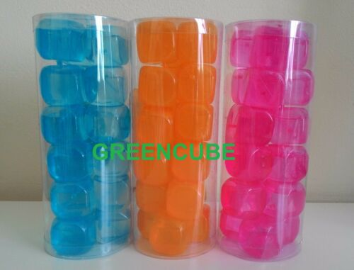 Glaçons réutilisables carrés cubes de glace congélation rapide Multi Couleurs Pack