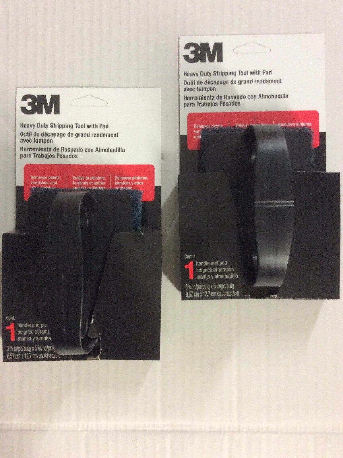 (2) 3M Heavy Duty Paint, Varnish, Wallpaper Paste, Finish Stripping Pads/Tools
