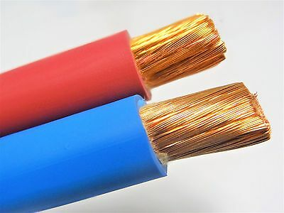100/' FT 1//0 AWG WELDING//BATTERY CABLE 50/' RED 50/' BLUE 600V MADE IN USA COPPER
