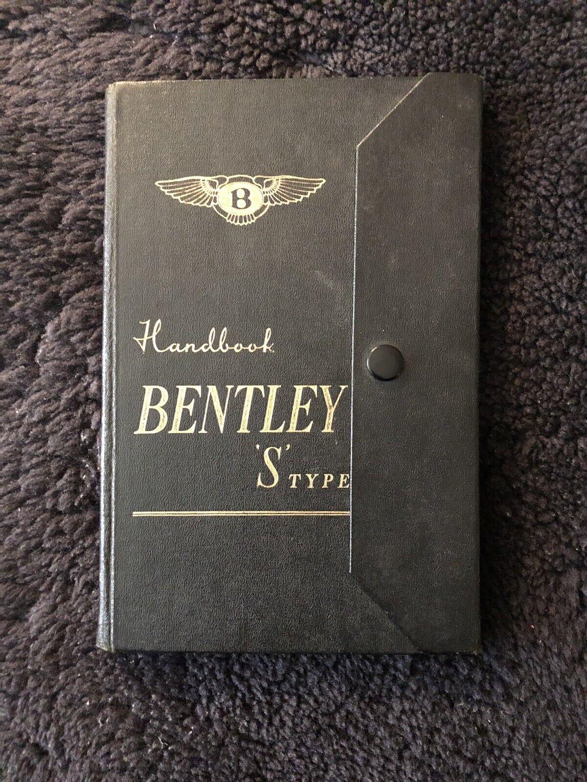 Rolls-Royce Bentley S1 Owners Manual Handbook 1955-58 OEM LHD RHD