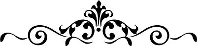 Scroll Embellishments Vinyl Wall Stickers Decal Decor