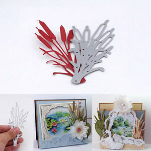 Cattail Plant Cutting Dies Stencils And Stamps Diy Scrapbooking