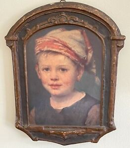 "Listed Artist Ferdinand Schauss ""Hansel"" Gesso Duro Painting Craft Regal Art"