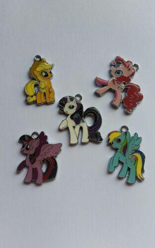 5 x  pony  charms pendants j28