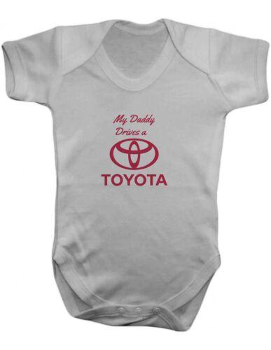 Mon père conduit une toyota bébé-gilet-bébé ange bébé-body 100/% coton