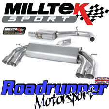"Milltek Audi S3 8v 3-Door RACE Exhaust 3"" NON VALVE Res Titanium GT100 SSXAU529"