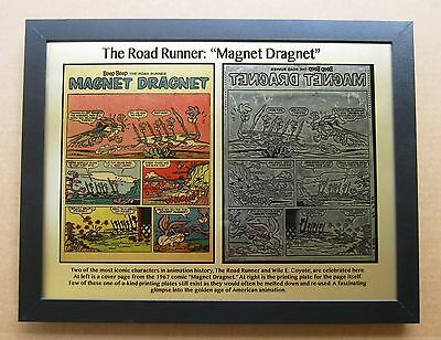 Road Runner & Wile E Coyote 1967 Printing Plate &  comic page printed to plate!