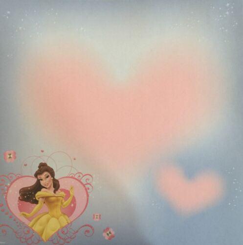 Scrapbook Paper 2 EK Success Sheets 12 x 12 Disney Belle Beauty and Beast