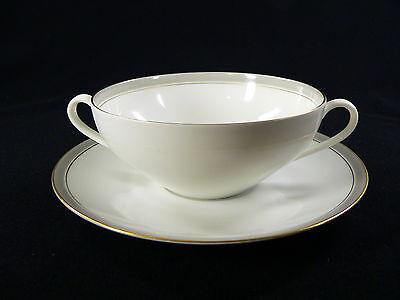 Arzberg  Porzellan Form 5000 Turku weiß Platin oder Silberrand Suppentasse