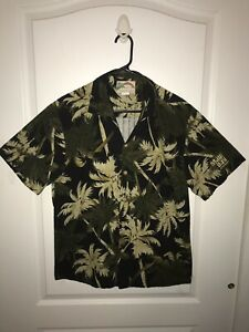 Vtg-Paradise-Found-Shirt-Size-L-Tropical-Hawaiian-Palm-Tree-Maui-Bay-by-Emerson