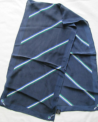 -authentique écharpe Actv 100% Soie Tbeg Vintage Scarf