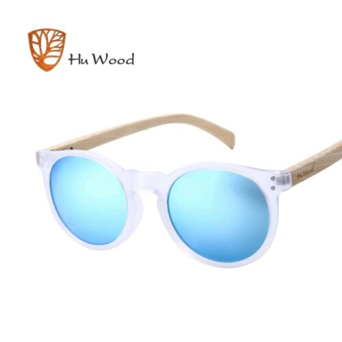 HU WOOD Luxury Round Wooden Sunglasses UV400 Shades Wood 5 Different Colours