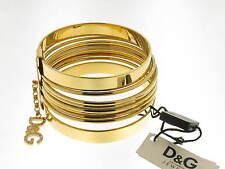 D&G bracciale Loops Collection acciaio dorato e swarovsky DJ0191 new