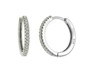 Genuine-Diamond-Small-Hoop-Earrings-set-in-Solid-Sterling-Silver