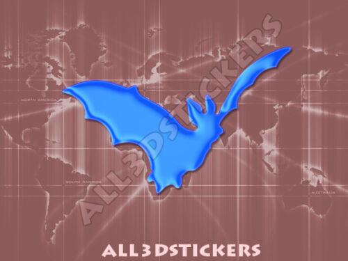 Pegatina Murcielago 3D Relieve Color Azul Electrico
