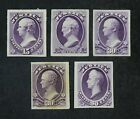 CKStamps: US Stamps Collection Scott#O31P3-O34P3 Unused H NG Proof Spot Thin