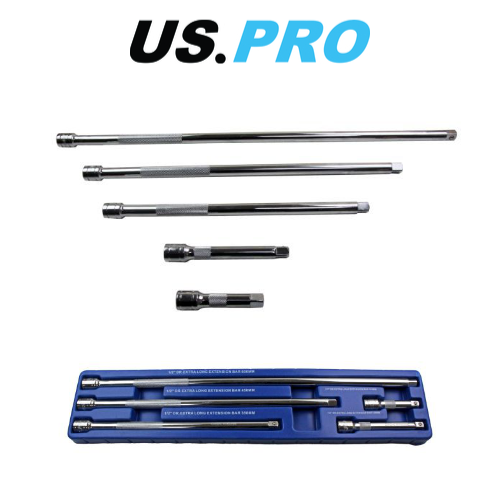 "610mm 3pc 3//8/"" Drive Extra Long Straight Extension Bar Set 380mm 455mm"