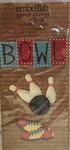 NIP-Embellish-Your-Story-Bowling-Magnets-By-Roeda-Set-of-3-Bowling-Pins-amp-Shoes