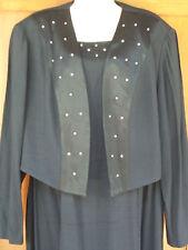 Evening Dress Formal Shift & Jacket 2X Long Ball Gown 18-20W Rhinestones 4g13