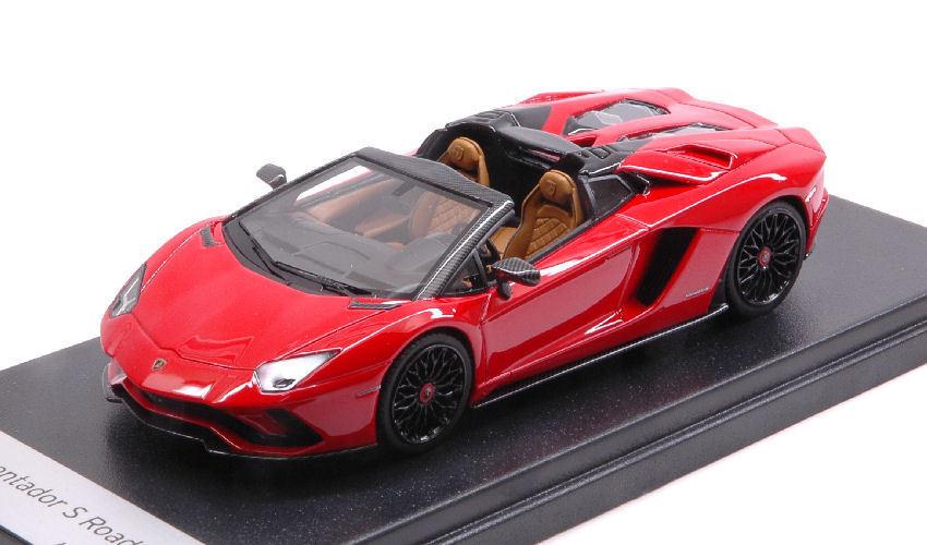 Lamborghini Aventador s roadster Rosso Mars 1 43 Model LookSmart