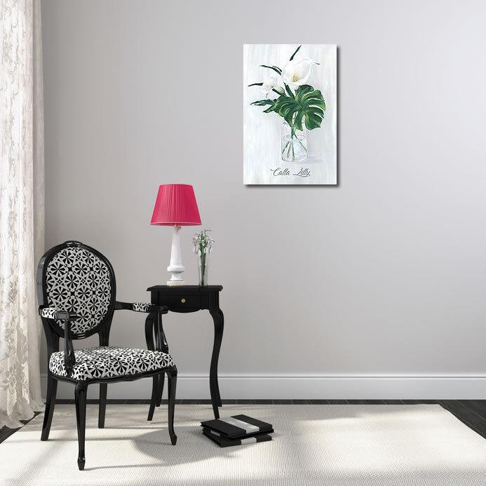 Faites plaisir à vos clients Eva Watts: Leafy Botanical Botanical Botanical Châssis-image toile Calla Feuille Moderne Vase c08c15