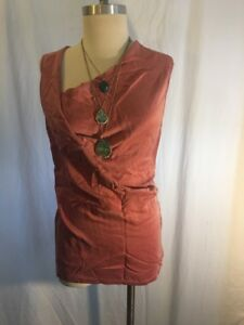 Velvet-Brand-Graham-Spencer-Asymmetrical-Top-Washed-silk-dusty-rose-color