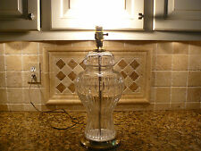 Vintage Large Cut Crystal Hollywood Regency Ginger Jar Table Lamp